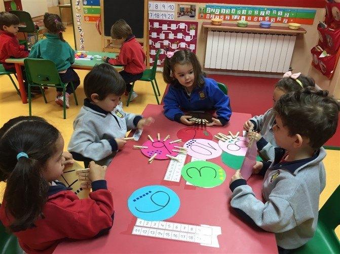 Cómo enseñar matemáticas-círculos con números